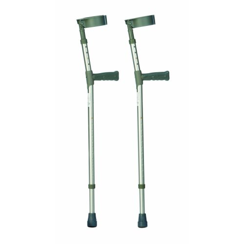 Double Adjustable Aluminium Crutches